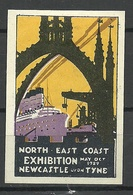 GREAT Britain 1929 North East Coast Exhibition Newcastle Upon Tyne Vignette Poster Stamp - Cinderellas