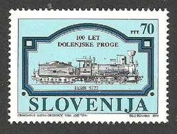 SLOVENIA 1994 TRAINS RAILWAYS CENTENARY SET MNH - Slovenia