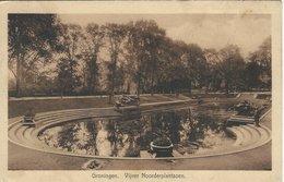 Groningen. Vijver Noorderplantsoen.    Sent To Germany 1937.   Holland. S-4651 - Groningen