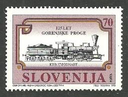SLOVENIA 1995 TRAINS RAILWAYS CENTENARY SET MNH - Slovenia