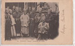 CPA- TONKIN- Hanoï - Notables En Prière-1913-2scans - Vietnam
