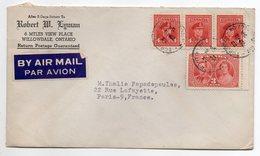 Canada-1954-Lot De 2 Lettres De TORONTO Pour PARIS (France)--timbres-cachets-- - Cartas