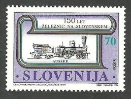 SLOVENIA 1996 TRAINS RAILWAYS CENTENARY SET MNH - Slovenia