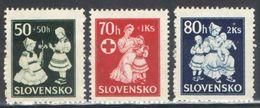 E074) SLOVACCHIA 1943 SERIE COMPLETA MNH - Slovacchia