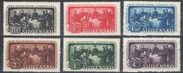 E069) SLOVACCHIA 1942 SERIE COMPLETA MNH - Slovacchia