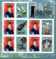 Feuilles Harry Potter. Fête Du Timbre 2007 - France