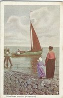 Uitzeilende Visscher. Fishingboat. Volendam.  Netherlands.     S-4655 - Volendam