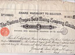 Tapp 5 Share Warrant To Bearer     1889 - Aandelen