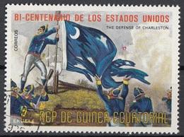 "Guinea Equatoriale 1976 Sc. 7567 ""Battle Of Cowpens"" Quadro Dipinto J.A.S. Oertel Paintings - CTO Equatorial - Indipendenza Stati Uniti"