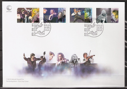 Norway  2010 Popular Music (II): Eurovision Song Contest: Bobbysocks, Rybak, Secret Garden, Teigen Mi 1720-1723, FDC - Norway