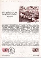 FRANCE 1985 Rattachement De Saint Barthélémy - Documenten Van De Post