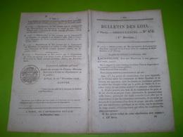 1833 Pont Suspendu Entre St Gaultier Et Thenay Avec Tarifs De Péage.Amnistie Pour Les Gardes Nationaux De Moulins..... - Décrets & Lois