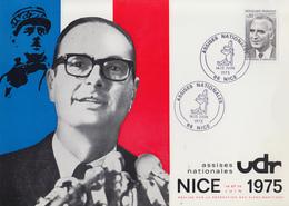 Carte  FRANCE   Jacques   CHIRAC    Assises  Nationales  De  L' U.D.R    NICE   1975 - Poststempel (Briefe)