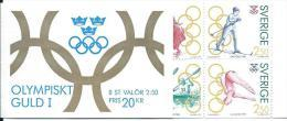 Suède 1991 Carnet C1662 Neuf Sports Jeux Olympiques, Patinage, Ski, Aviron Et Plongeon - Carnets
