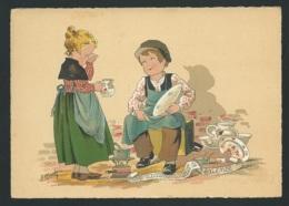 Les Petis Métiers  De La Rue , Le Raccomodeur De Faience   , Illustration   Naudy   - Gaf06 - Naudy