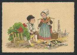 Les Petis Métiers    , La Petite Porteuse D'eau      , Illustration   Naudy   - Gaf14 - Naudy