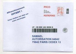 Entier Postaux-PAP  Réponse Prio 20g   Ciappa Kavena   Avec SUIVI ---NEUF--SAMAEL...pas Très Courant - Entiers Postaux
