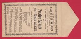 Sachet  Pharmacie ; Robert GILGENKRANTZ  Ecole Sup De  NANCY  à SENONES / VOSGES Poudre--Levure Pour Gateau Alsacien - Publicités