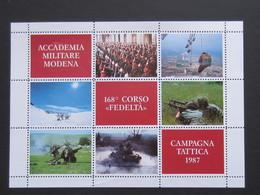 Accademia Militare Di Modena, 168° Corso Fedeltà 1987, Foglietto Erinnofilo - Militaria