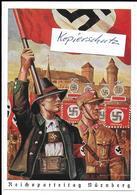 Propaganda, Hitler, Nazi, Drittes Reich, Reichsparteitag, Hakenkreuz, Swastika,Propagandakarte - Weltkrieg 1939-45