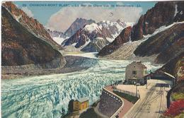 74 CHAMONIX MONT BLANC  LOT 2 CARTES GARE ARRIVEE TRAIN A CREMAILLERE DU MONTENVERS GLACIER DE LA MER DE GLACE - Chamonix-Mont-Blanc