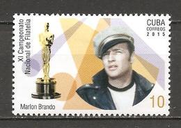 CUBA - 2015 MARLON BRANDO Attore Americano E La Statuetta Dell'Oscar Nuovo** MNH - Actores