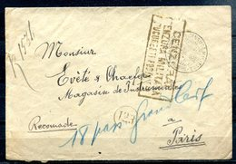 ROUMANIE - 29.07.1919 - Courrier Pour PARIS, Censuré Par L'autorité Militaire Roumaine - Briefe U. Dokumente