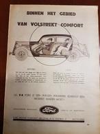 Reclame Ford Antwerpen Auto Voiture : 1 Blz Uit Oud Tijdschrift: Ons Land 1935 - Voitures
