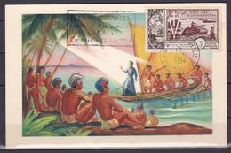 Wallis Et Futuna 1954 Saint Pierre Chanel Carte 38 FDC Luxe - Wallis-Et-Futuna