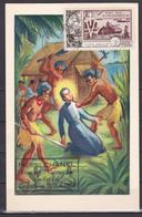 Wallis Et Futuna 1954 Saint Pierre Chanel Carte 40 FDC Luxe - Wallis-Et-Futuna
