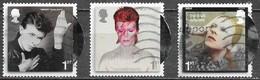 GB - David Bowie - Adhésifs - Oblitérés - Lot 1171 - 1952-.... (Elizabeth II)