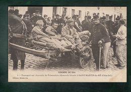 CPA - 17 - Saint-Martin-de-Ré  -  Transport Sur Charrette De Prisonniers Allemands Blessés - Guerre De 1914 - Ile De Ré