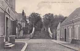 AK Chauny - Escalier Des Promenades - Feldpost 1915 (38947) - Chauny