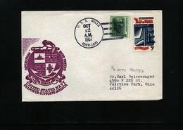 USA 1967 Deep Freeze Operation USS Mills Interesting Polar Cover - Navi Polari E Rompighiaccio