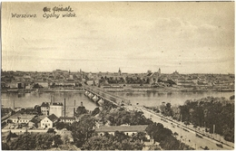CPA DE WARSZAWA - VARSOVIE  (POLOGNE)  OGOLNY WIDOK - Pologne