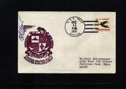 USA 1966 Deep Freeze Operation USS Mills Interesting Polar Cover - Navi Polari E Rompighiaccio