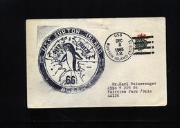 USA 1965 Deep Freeze Operation USS Burton Island Interesting Polar Cover - Polare Shiffe & Eisbrecher