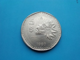 MEXIQUE  5  Pesos  1980  --SUP-- - Mexico