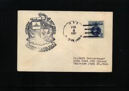 USA 1961 Deep Freeze Operation USS Glacier Interesting Polar Cover - Polar Ships & Icebreakers