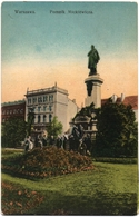 CPA DE WARSZAWA - VARSOVIE  (POLOGNE)  POMNIK MICKIEWICZA - Pologne