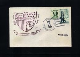 USA 1971 Deep Freeze Operation USCGC Burton Island Interesting Polar Cover - Polare Shiffe & Eisbrecher