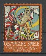 SCHWEDEN Sweden 1912 Vignette Olmpische Spiele Stockholm Advertising Text Auf Deutsch MNH - Sommer 1912: Stockholm