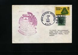 USA 1968 Deep Freeze Operation Pole Station Antarctica Interesting Polar Cover - Forschungsstationen