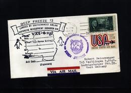 USA 1972 Deep Freeze Operation Antarctic Development Squadron Six VXE-6 Interesting Polar Cover - Polare Flüge