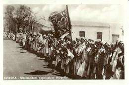"""2222 """" ERITREA - SCHIERAMENTO POPOLAZIONE INDIGENA """" CARTOLINA POSTALE ORIGINALE NON SPEDITA - Eritrea"""