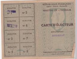 Carte D' Electeur - 1951 - Cartes