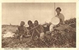 """2223 """" COLONIA ERITREA - TIPI INDIGENI """" CARTOLINA POSTALE ORIGINALE NON SPEDITA - Eritrea"""