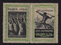 Vignette - Jeux Olympiques - Paris 1924 - VIIIe Olympiade - Commemorative Labels