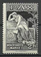 Germany Ca 1910 Wohltätigkeitsmarke PAX Charity Wohlfahrt * - Erinnophilie