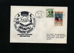 USA 1967 Hallett Station Antarctica Interesting Polar Cover - Basi Scientifiche